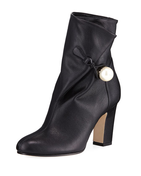 Jimmy Choo Bethanie 85mm Leather Booties