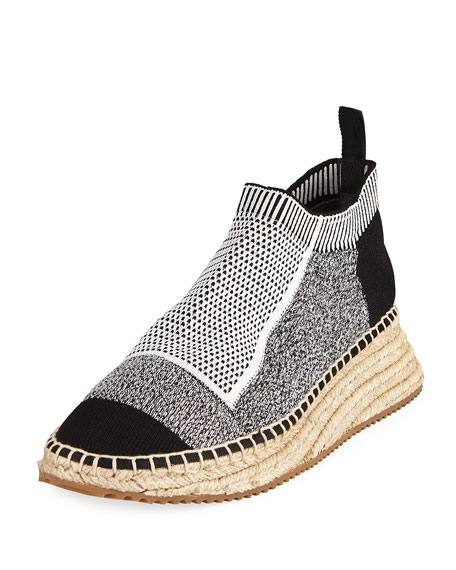 Dylan Low Combo Knit Sneakers  in Grey