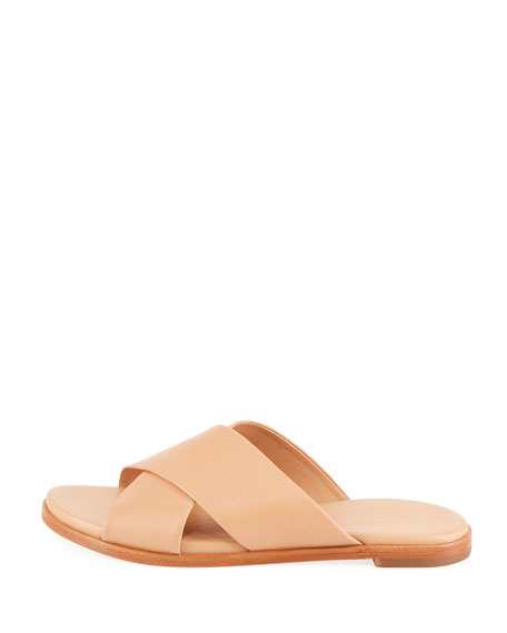 Anica Grand Crisscross Flat Slide Sandal