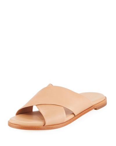 Anica Grand Crisscross Flat Slide Sandal
