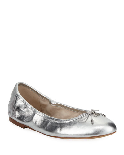 Felicia Classic Metallic Ballet Flat