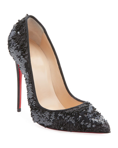 So Kate 120mm Sequin Red Sole Pumps