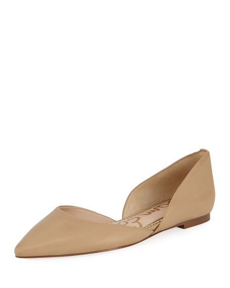Rodney Pointed-Toe Leather Flats