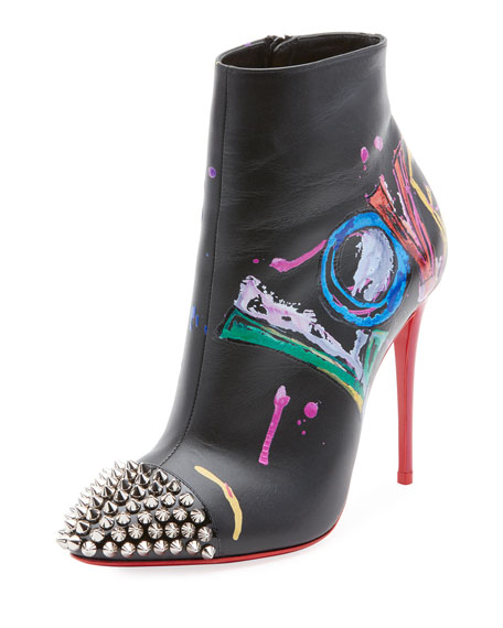Love Is A Boot Red Sole Booties, Black