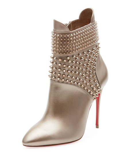 Christian Louboutin Hongroise Spiked Red Sole Booties