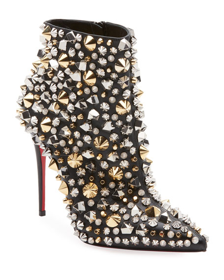 So Full Kate Studded Napa Red Sole Booties
