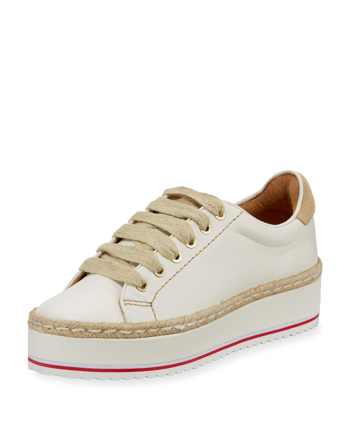 3123c5ab7627 Joie Dabnis Leather Platform Low-Top Sneaker