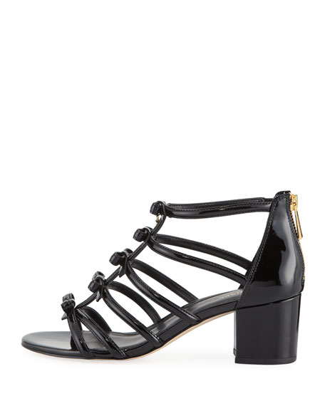 Veronica Caged Bow Sandal