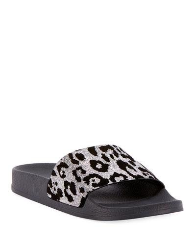 Calypso Leopard Pool Sandal