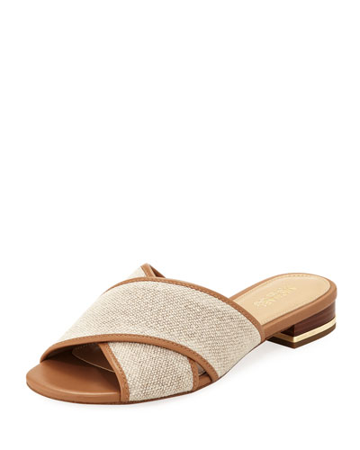 Shelly Flat Hemp Crisscross Slide Sandal