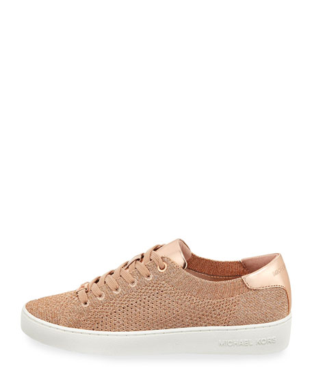 Skyler Metallic Lace-Up Low-Top Sneakers