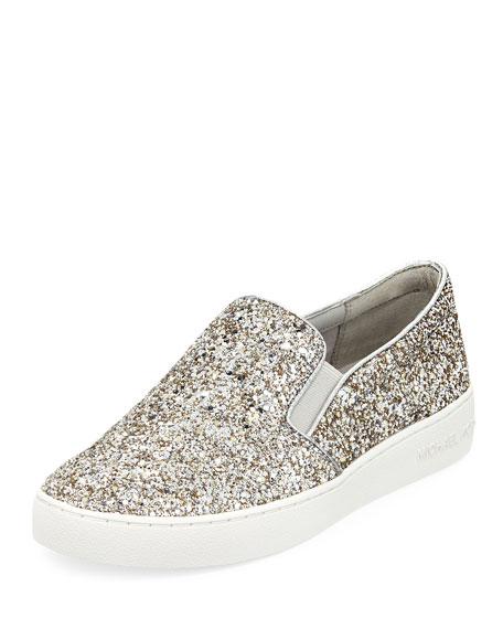 MICHAEL Michael Kors Keaton Glitter Platform Skate Sneakers