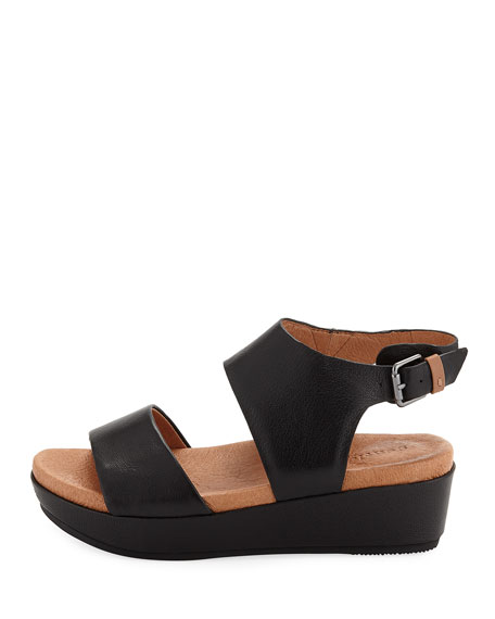 Lori Leather Comfort Wedge Sandal