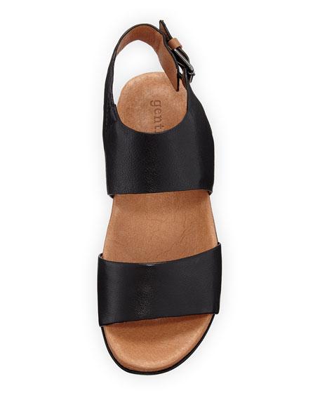 Lori Leather Comfort Wedge Sandal