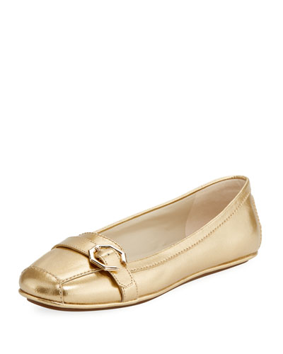 Demi Metallic Flat Driver, Gold