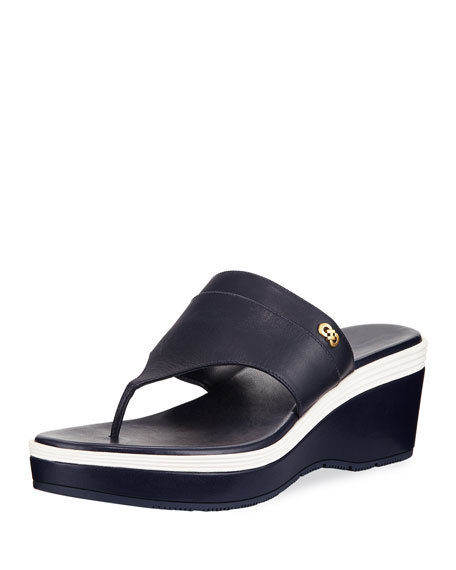 Cole Haan Cecily Grand Colorblock Wedge Thong Sandal VIMOKEy
