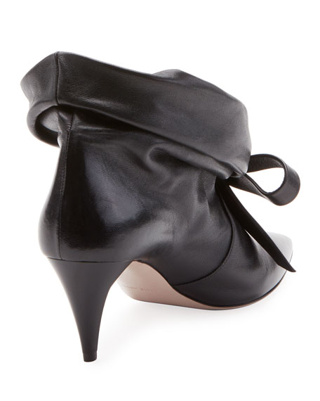 Fold-Down Leather Bootie