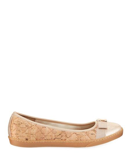 Fanya Quilted Cork Ballerina Sneakers