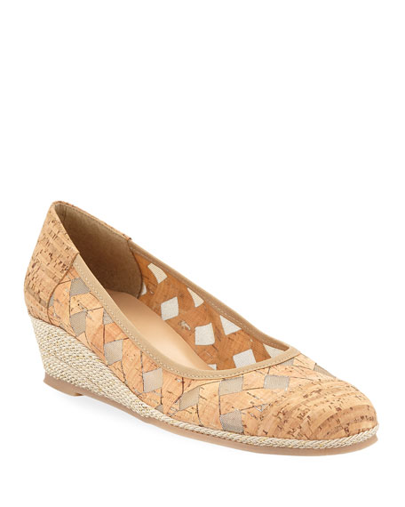 Sesto Meucci Myra Cork Wedge Espadrille Pumps
