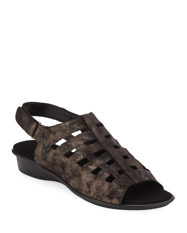 6b941be5e2767 Sesto MeucciEllia Laser-Cut Leather Comfort Sandal