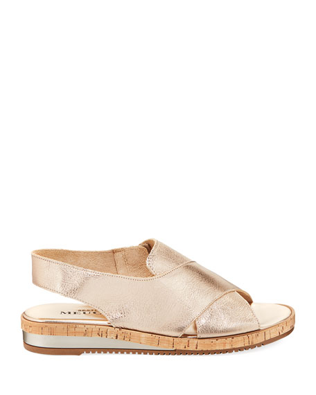 Sabita Cinzano Leather Demi-Wedge Flat Sandal
