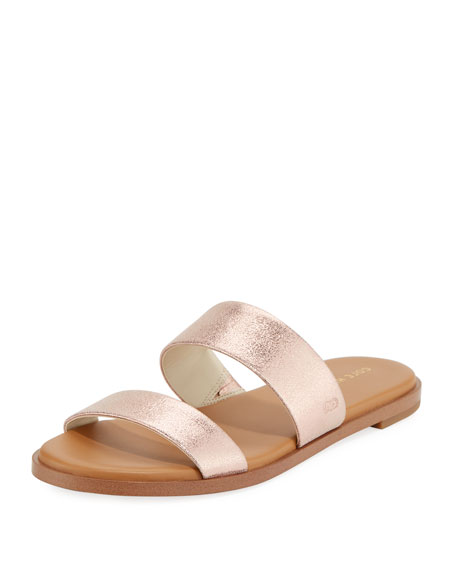 Cole Haan Findra Grand Flat Metallic Leather Slide