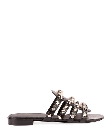 Giant Palladium Studded Sandal