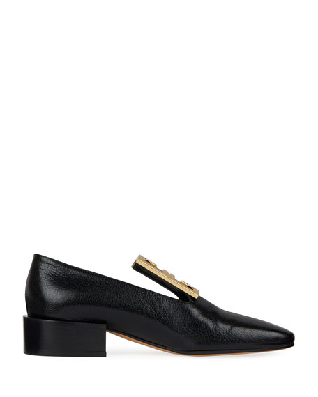 Leather High-Vamp Loafer with 4G Logo