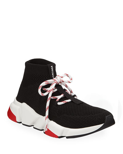 Knit Lace-Up Speed Sneaker