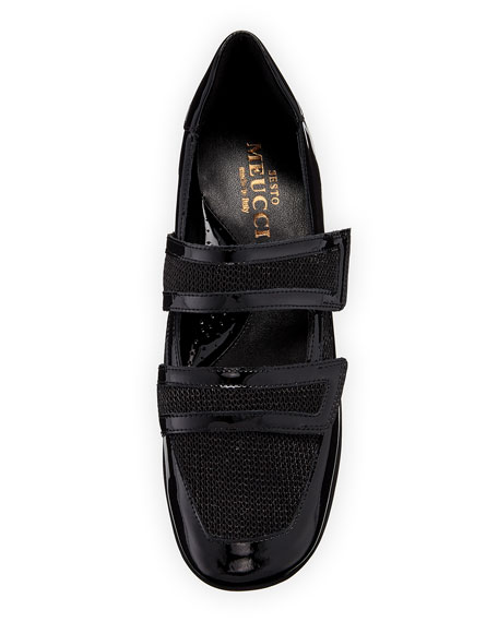 Gyan Patent Leather/Mesh Mary Jane Sneakers