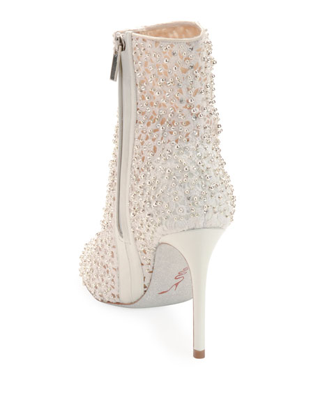Embellished Bootie with Golden Beading