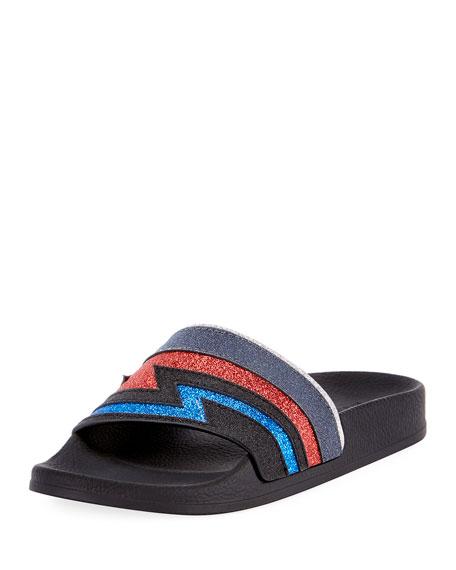 BALMAIN Calypso Flash Leather Sandal in Black