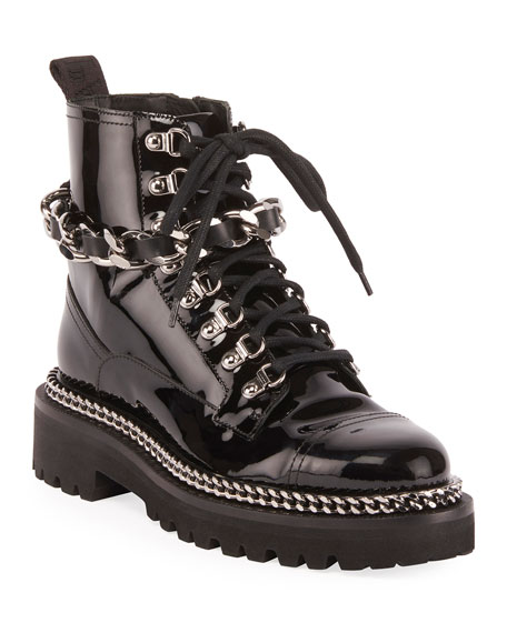 Balmain Combat Army Chain Boot