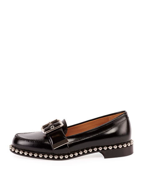 Sawyer Buckle Loafers with Stud Trim
