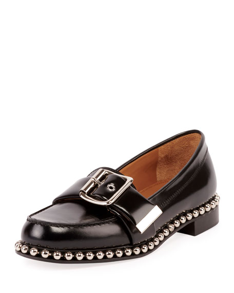 Chloe Sawyer Buckle Loafer with Stud Trim