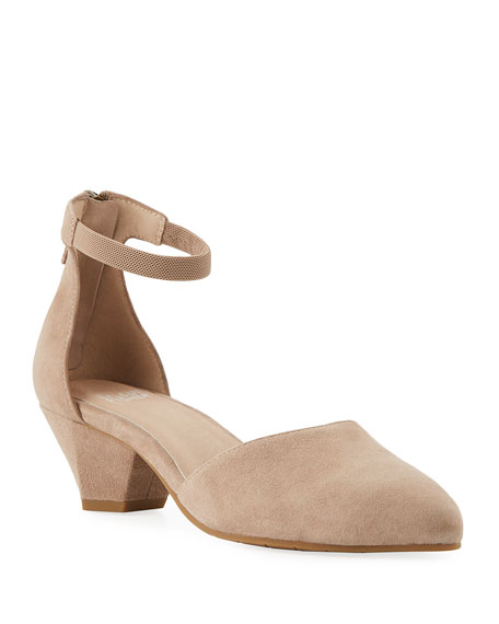 Eileen Fisher Just Suede Low-Heel Pump