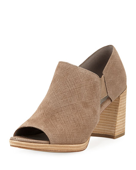 Eileen Fisher Milton Open-Toe Block-Heel Booties