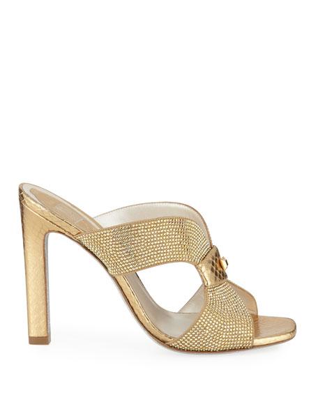 Embellished Crystal Slide Sandal