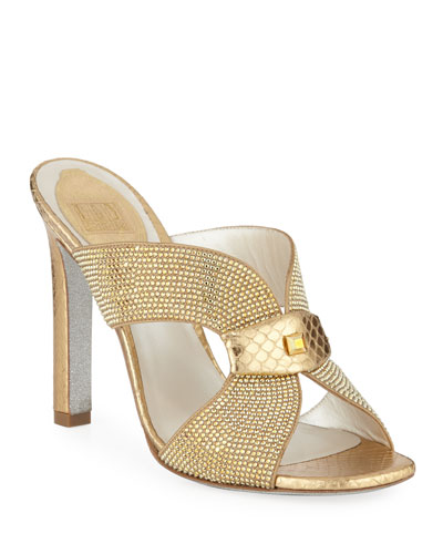 Embellished Crystal Slide Sandal