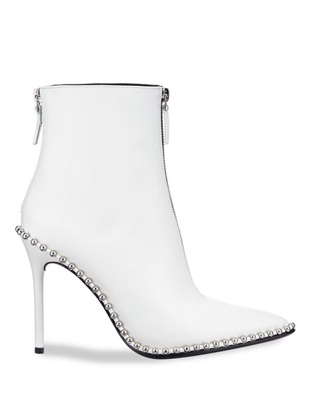 Eri Leather Dual-Zip Booties with Studs