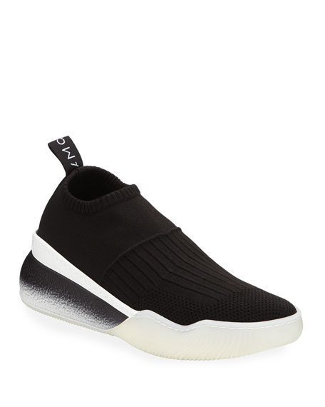Loop Faro Fitzroy Nylon Platform Sneakers, Black/White