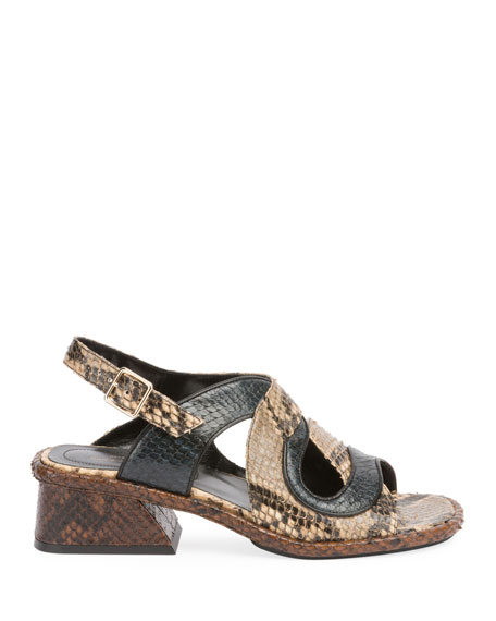 Asymmetric Metallic Sandal