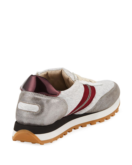 Metallic Jersey Runner Sneakers