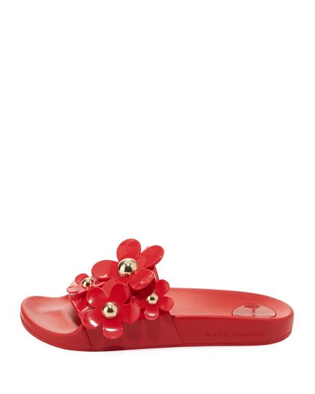 Daisy Aqua Pool Slide Sandal