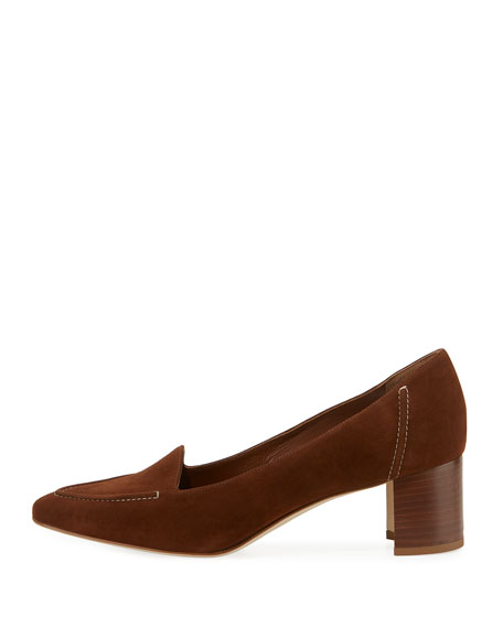 Acorda 50mm Suede Loafer Pumps