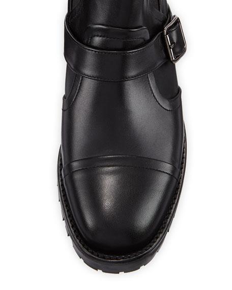 Traba Leather Lug Sole Booties