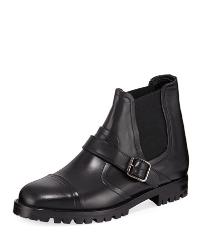 Traba Leather Lug Sole Booties