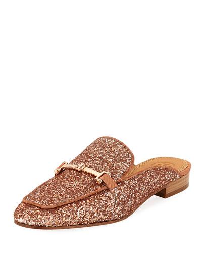 Amelia Glitter Loafer Mule