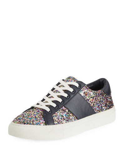 f274d4d4999ef Tory Burch Carter Glitter Low-Top Lace-Up Sneaker