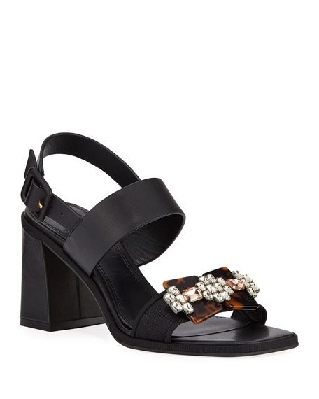Delaney Embellished Leather Sandal